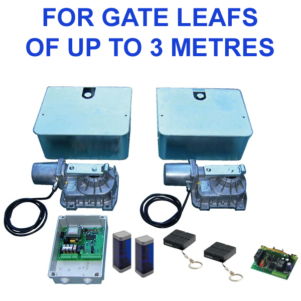 Electric Gate Kits >> Roger Technology R 21 Double Underground Gate Opener Kit